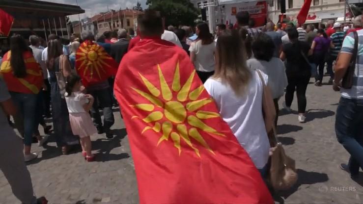"""""""Nigdy Północna, na zawsze - Macedonia!"""". Macedończycy protestują przeciwko zmianie nazwy państwa"""