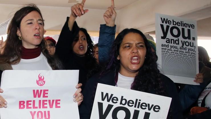 Przed sądem w obronie skazanej demonstrowało ok. 150 kobiet. Skandowały m.in.