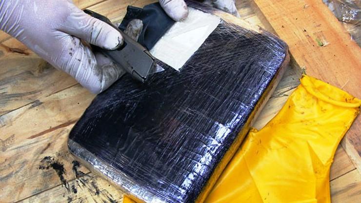 Przechwycono ponad 20 kg kokainy przemyconej z Ameryki Płd.