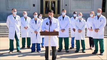Trump w szpitalu. Lekarze o stanie zdrowia prezydenta USA [WIDEO]