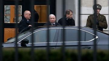 Zakończyło się spotkanie prezesa PiS i marszałka Sejmu z prezydentem