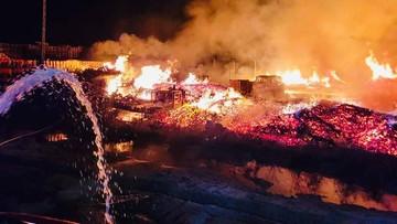 Ogromny pożar w Wielkopolsce. Straty liczone w milionach
