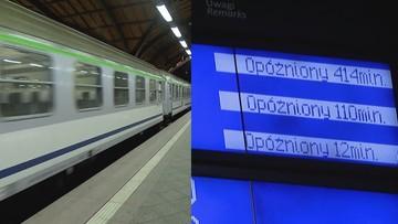 """Te pociągi niemal zawsze się spóźniają. """"Malczewski"""", """"Uznam"""", """"Artus"""". Zobacz rekordową listę"""