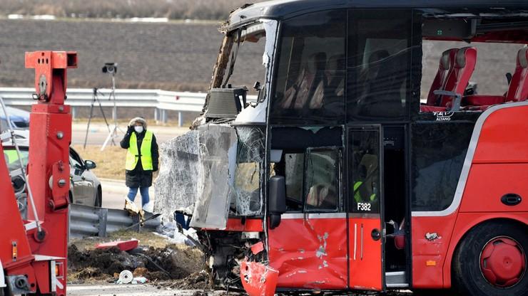 Wypadek ukraińskiego autobusu. Są zarzuty dla kierowcy