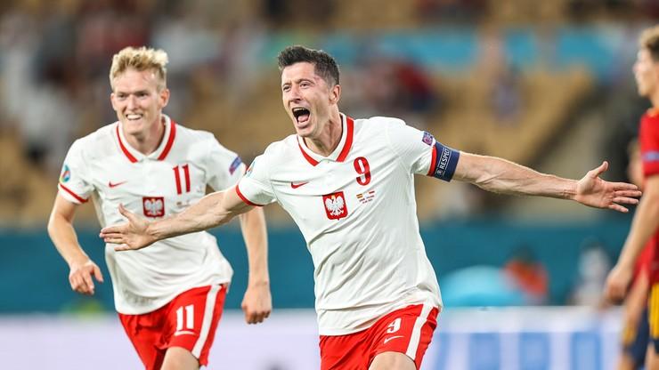 Polska - Hiszpania 1:1. Gol Roberta Lewandowskiego