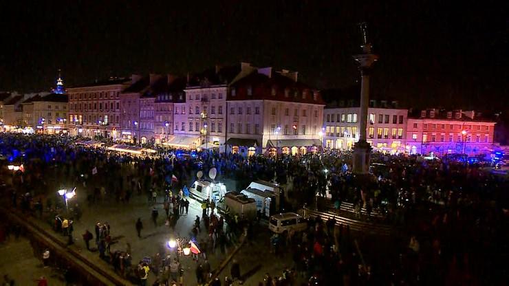 """Demonstracja w Warszawie: zatrzymano 9 osób, wśród nich jest """"Babcia Kasia"""""""