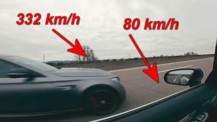 Zobacz przejazd autostradą 330 km/h z perspektywy innego samochodu [WIDEO]