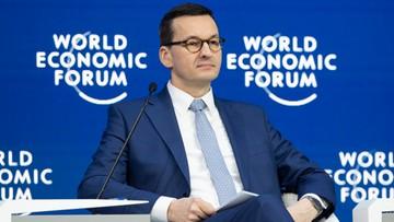 Premier w Davos: Polska jest jednocześnie proeuropejska i proamerykańska