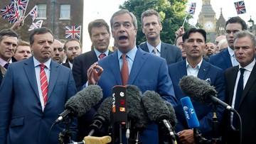 """Lider brexitowców przyznał: sztandarowa obietnica """"była pomyłką"""""""