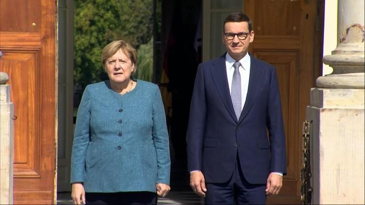 """Spotkanie Merkel-Morawiecki. """"Dziękuję. To była współpraca na wielu polach"""""""
