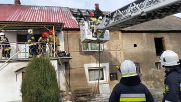 Pożar domu jednorodzinnego. Budynek może nie nadawać się do zamieszkania