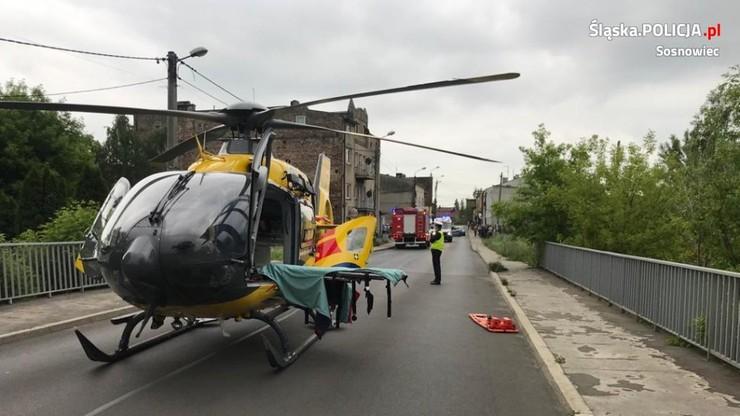Pięciolatek potrącony na rowerze w ciężkim stanie. Helikopter musiał lądować na moście [ZDJĘCIA]