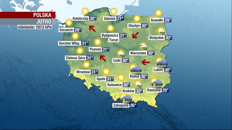 Żar będzie lał się z nieba. Fala upałów nadciąga nad Polskę