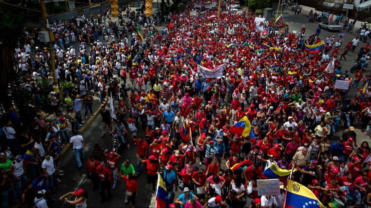 Wielotysięczne demonstracje przeciwko rządom prezydenta Wenezueli