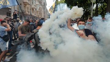 Zamieszki przed siedzibą prezydenta na Ukrainie. Są ranni