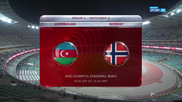 2016-10-08 Azerbejdżan - Norwegia 1:0. Skrót meczu