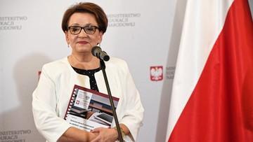 Anna Zalewska: informacje na temat mojej dymisji to wakacyjne plotki