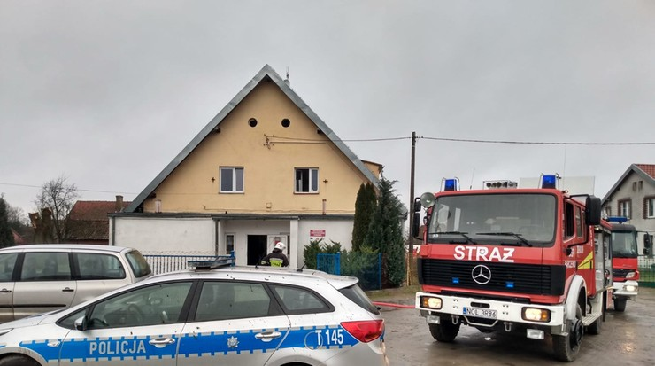 Pożar w szkole podstawowej w Barczewku