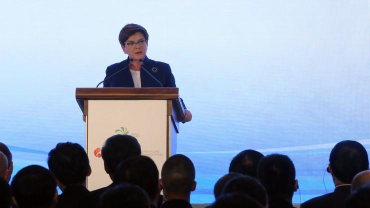 Szydło: Polska naturalnym partnerem Chin dla Nowego Jedwabnego Szlaku