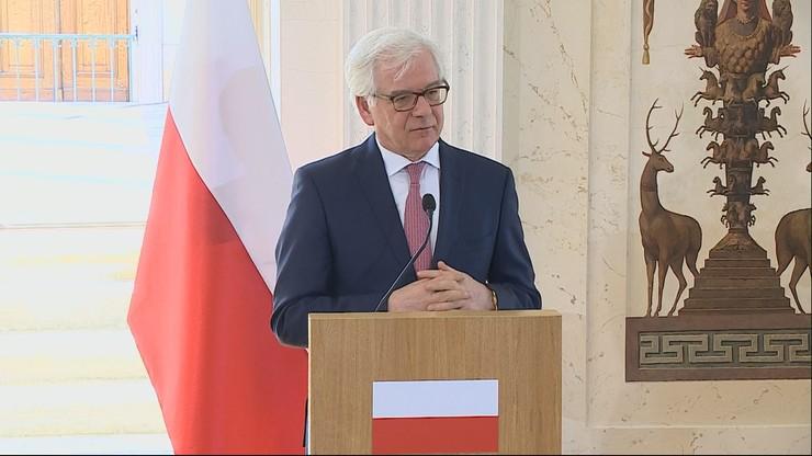 Czaputowicz: ufamy, że społeczeństwo i władze białoruskie same znajdą rozwiązanie swoich problemów