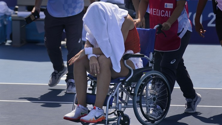 Tokio 2020. Paula Badosa przegrała z upałem. Opuściła kort na wózku