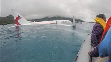 Awaryjne lądowanie samolotu na lagunie w Mikronezji