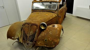 Przestał w stodole kilkadziesiąt lat. Przedwojenny szczeciński kabriolet trafi wkrótce do muzeum