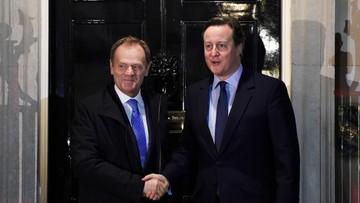 Tusk nie osiągnął porozumienia z Cameronem. Rozmowy będą kontynuowane w poniedziałek