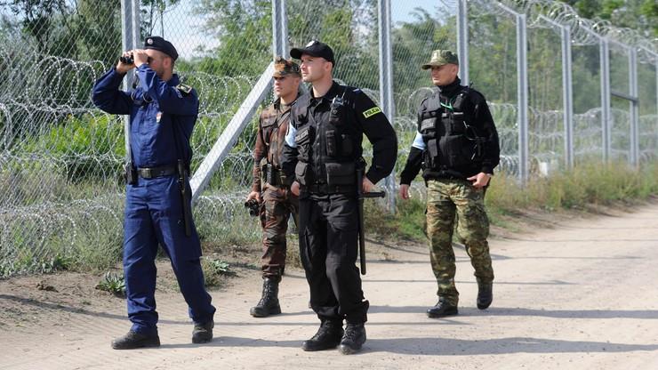 Polska straż graniczna strzeże węgierskiej granicy