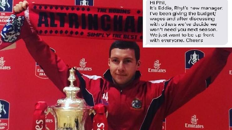 Były piłkarz Manchesteru United zwolniony z klubu. Dowiedział się SMS-em