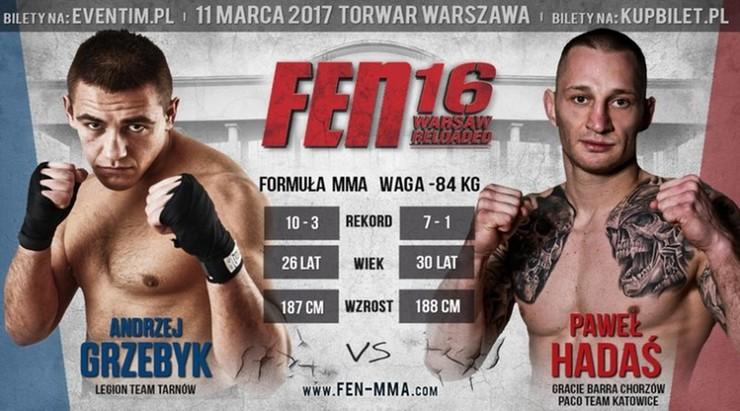 FEN 16 Warsaw Reloaded: Hadaś vs Grzebyk o pas kategorii średniej