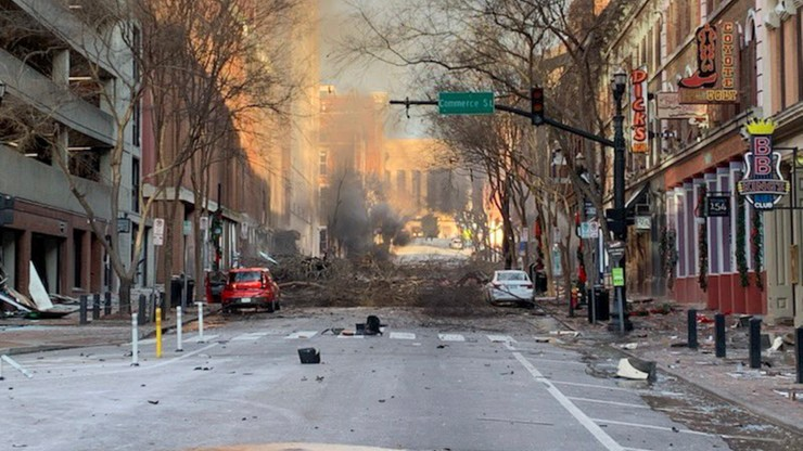 Eksplozja w Nashville. Gubernator prosi Trumpa o pomoc