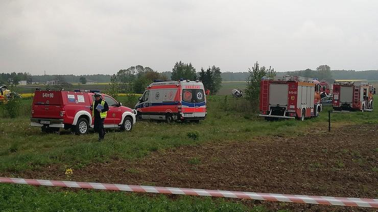 Awaryjne lądowanie śmigłowca w Sokołowie Podlaskim. Dwie osoby poszkodowane