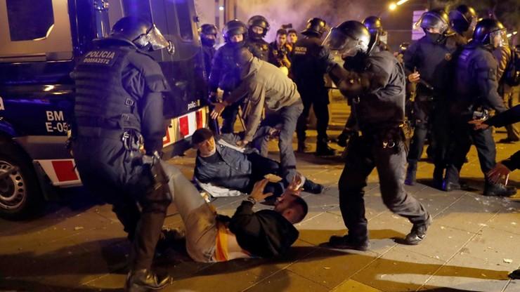 Starcia separatystów z policją w Barcelonie. Wielu rannych