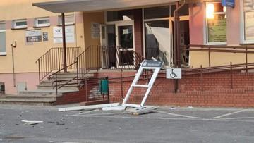 Eksplozja bankomatu. Wybuch uszkodził budynek