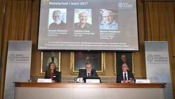 Dubochet, Frank i Henderson laureatami Nagrody Nobla w dziedzinie chemii. Dzięki nim znamy strukturę ważnych białek