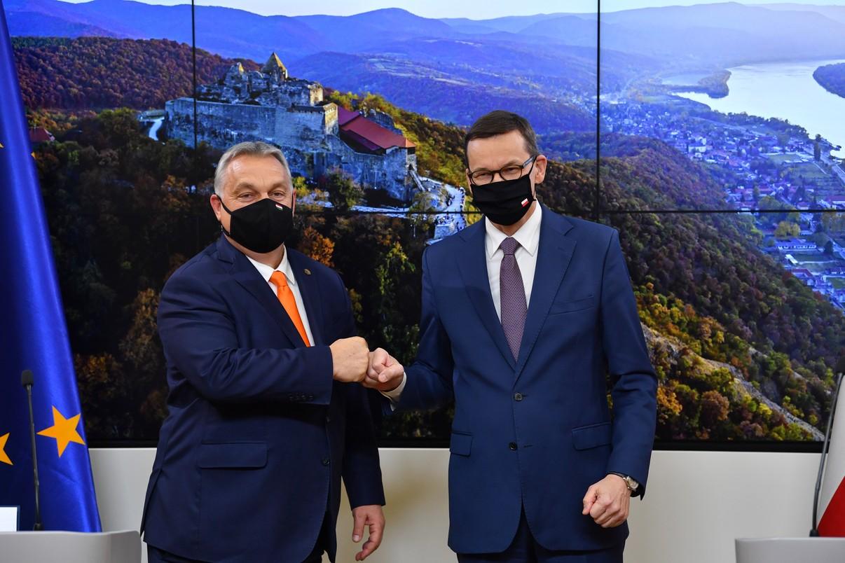 Premier Węgier Victor Orban i premier Polski Mateusz Morawiecki