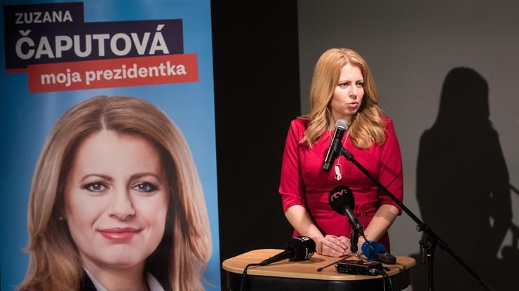 Czaputova wygrała pierwszą turę wyborów prezydenckich, w drugiej spotka się z Szefczoviczem