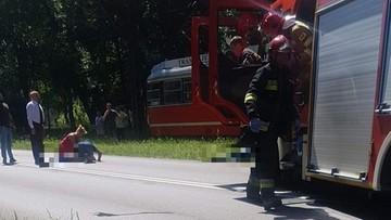 Motocykl uderzył w matkę z dziećmi. 39-latka nie przeżyła