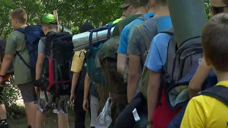 Ewakuacja obozu harcerskiego w wielkopolskiej Hucie