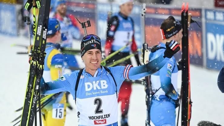 PŚ w biathlonie: Dublet Francuzów, pierwsze punkty Grzegorza Guzika