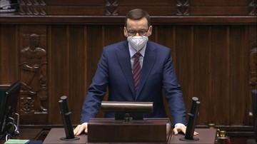 """""""Opozycyjne kłamstwo VAT-owskie"""". Wystąpienie premiera Morawieckiego w Sejmie"""