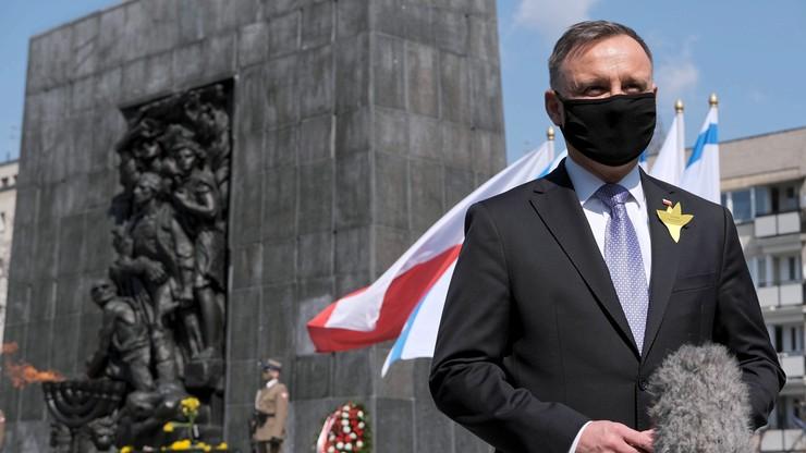 78. rocznica wybuchu powstania w warszawskim getcie. Prezydent: to była walka do końca