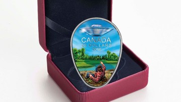 Bliskie spotkanie polskiego imigranta z UFO na monecie kolekcjonerskiej w Kanadzie