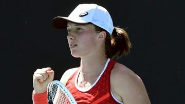 Australian Open: Świątek w drugiej rundzie! Świetny początek Polki