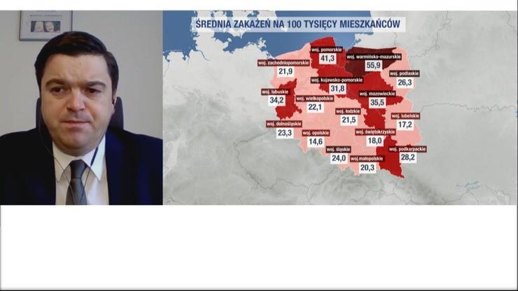 Andrusiewicz: na wzrost zakażeń powinniśmy reagować odpowiedzialnym zachowaniem