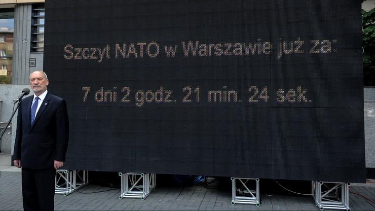 """Szef MON: szczyt NATO ustabilizuje sytuację na wschodzie i południu. W Warszawie """"przełomowa decyzja"""""""
