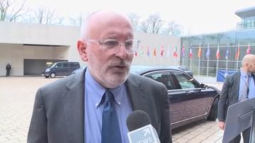 Timmermans: państwa UE chcą kontynuacji procedury ws. praworządności w Polsce