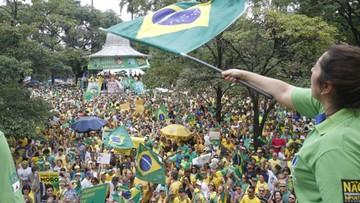 Protesty w ponad 400 miastach Brazylii. Demonstranci chcą dymisji prezydent