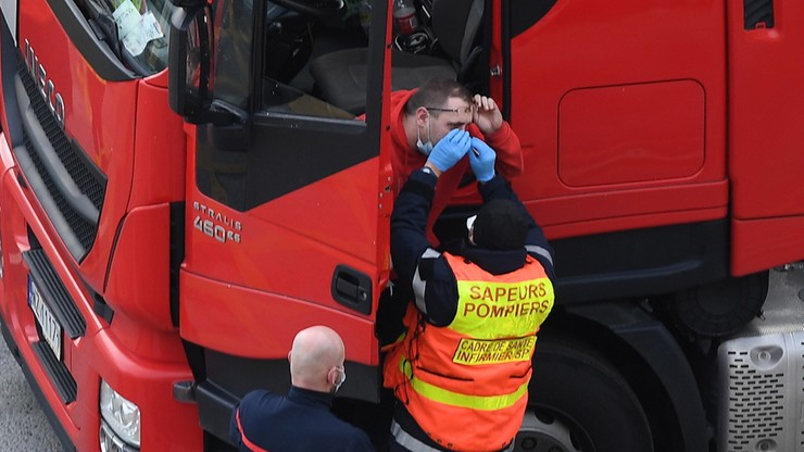 W. Brytania: na prawie 22 tys. testów u kierowców ciężarówek, 66 wyników pozytywnych